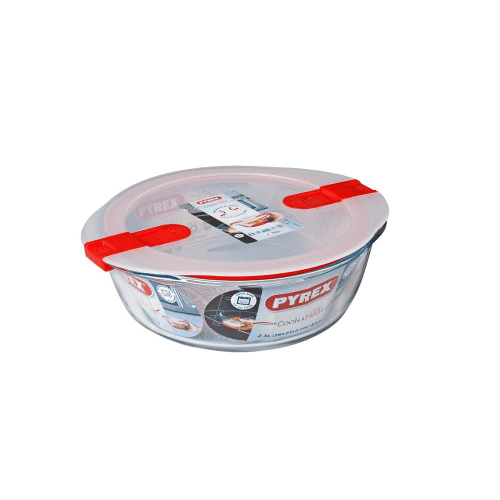 Pyrex Cook&Heat Round Dish +Lid 26x23cm 208PH00/7146