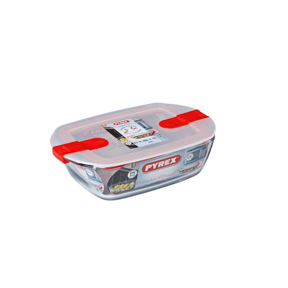 Pyrex Cook&Heat Rectangular Dish +Lid 23x15cm 215PH00/7145