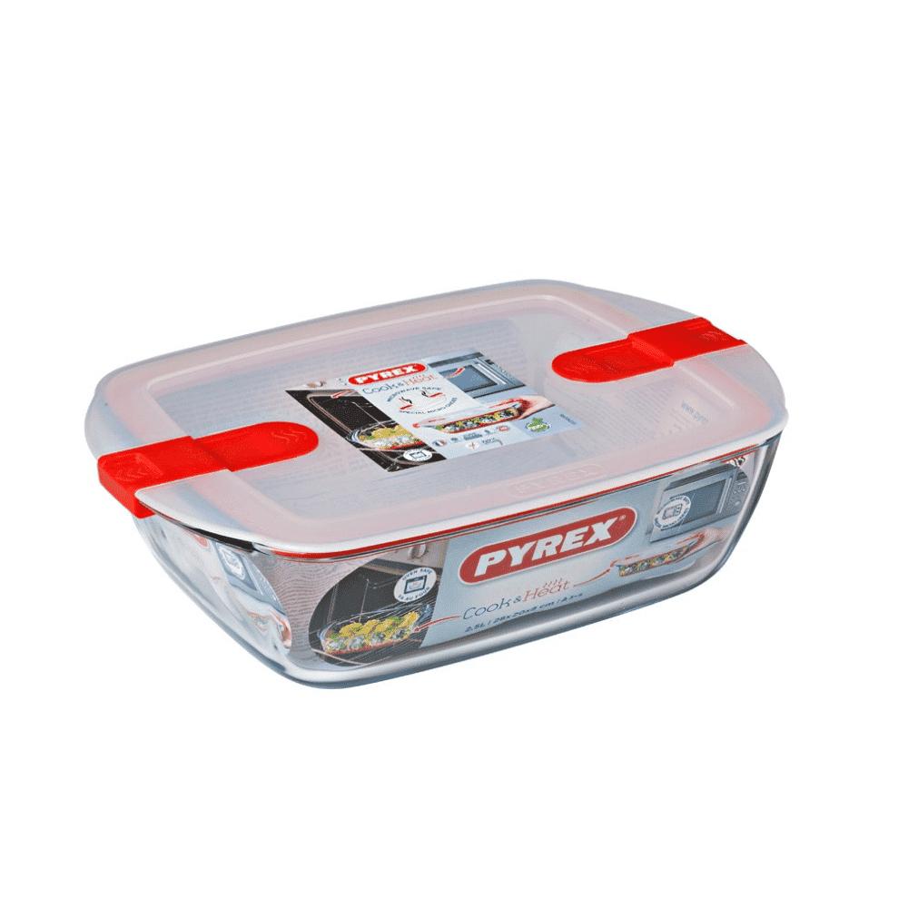 Pyrex Cook&Heat Rectangular Dish +Lid 28x20cm 216PH00/7144