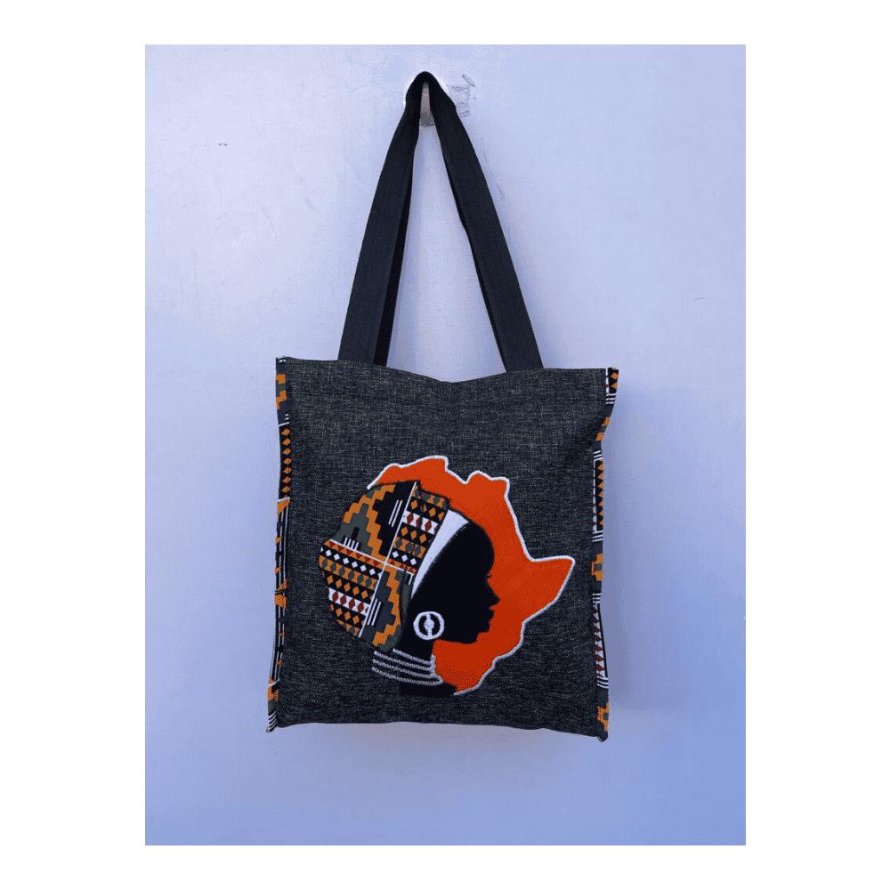 African Design Black Hand Bag