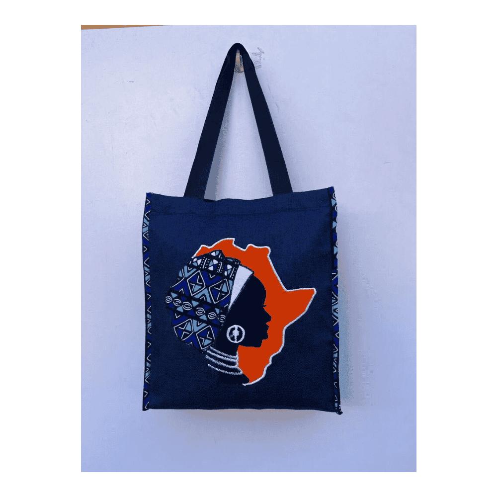 African Design Blue Hand Bag