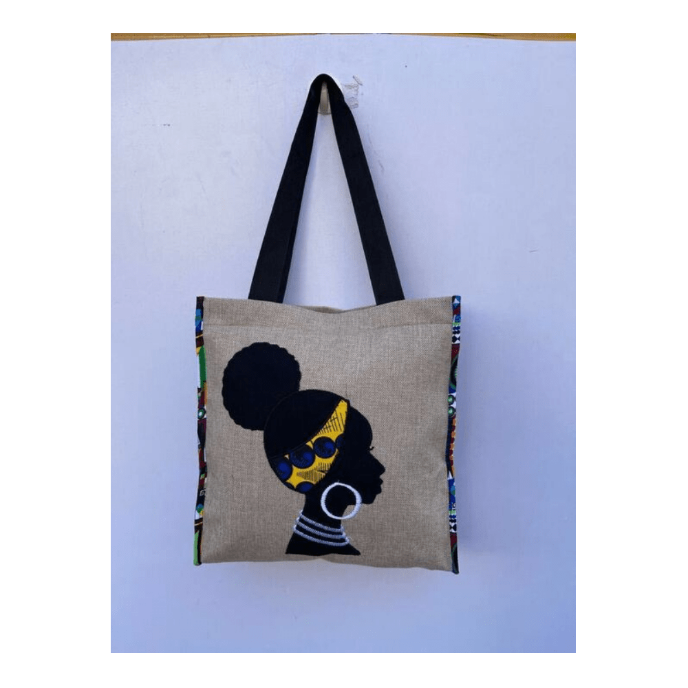 African Design Grey Hand Bag