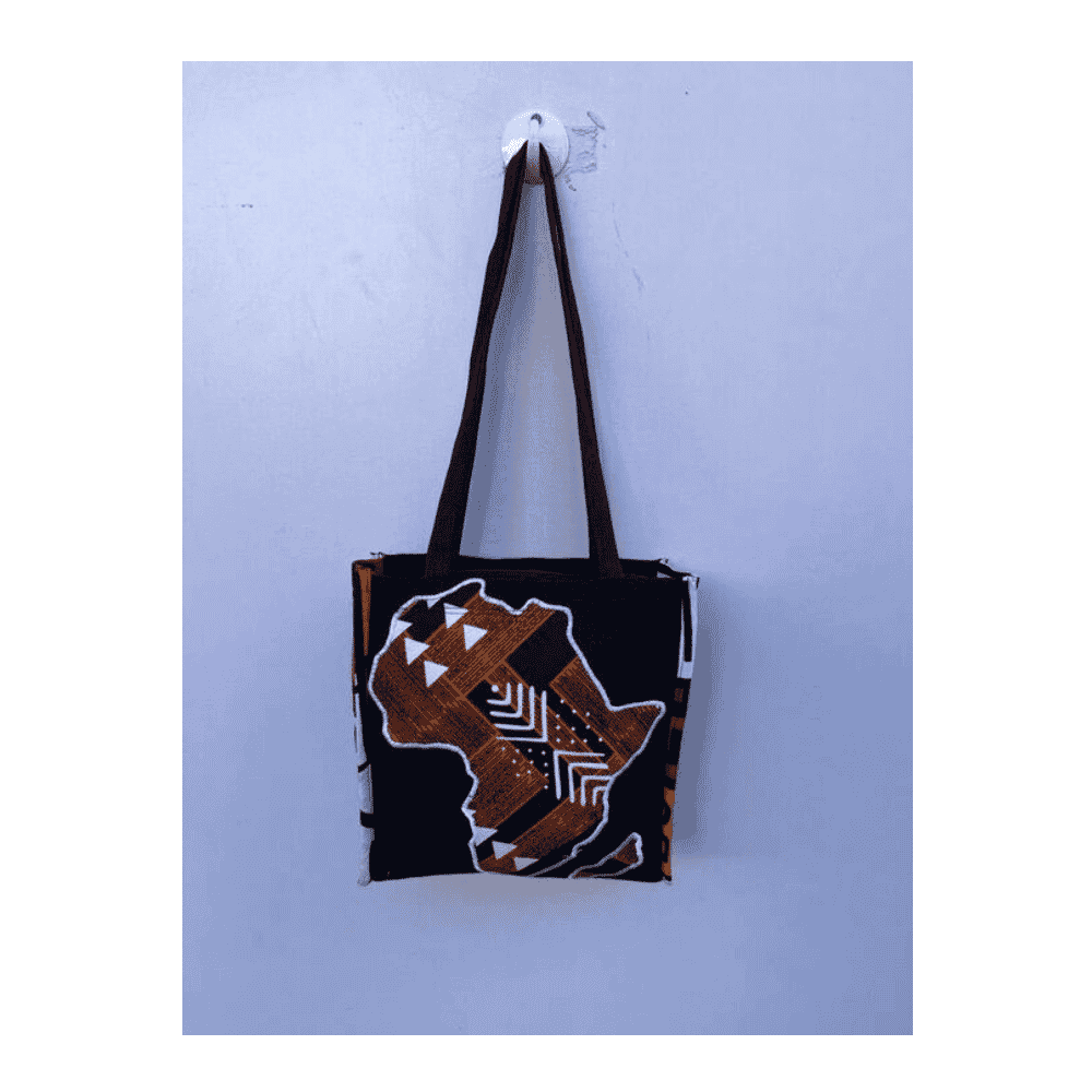 African Design Hand Bag With Africa Map Design