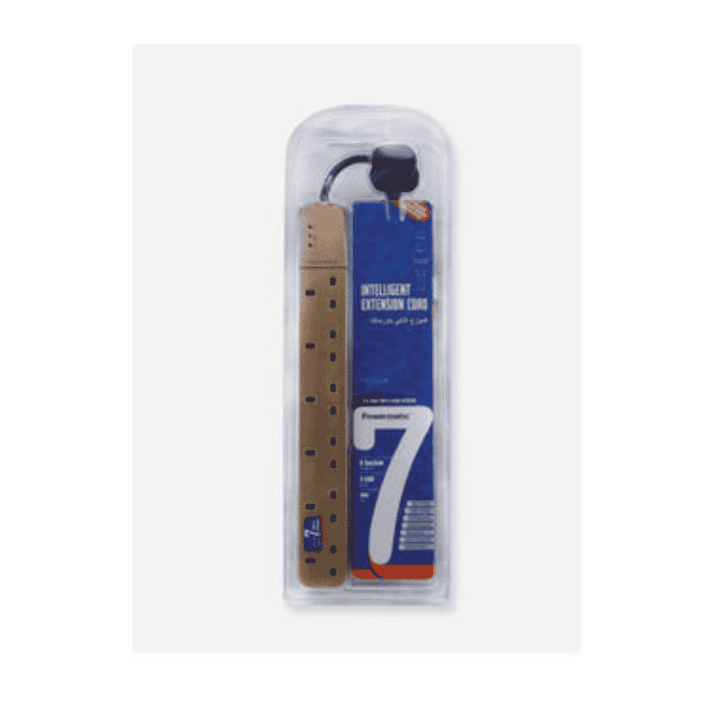 Powermatic PE5F-25G-3M 6 Way Extension Sockets 3m Cable