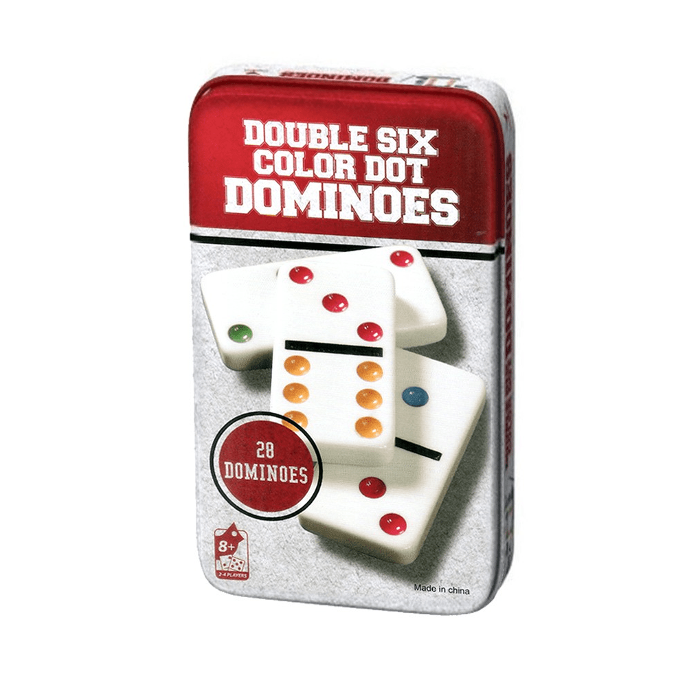 Metal tin dominoes