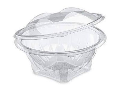Round Clear Salad Bowl Flower Design (32 oz)