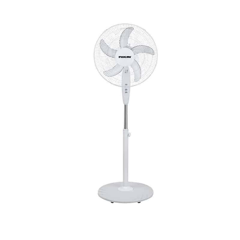 Nikai Stand Fan 45W NPF160 – White